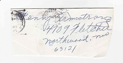 Henry Armstrong Autograph & Address Inscription 3 Division Boxing Champion d1988