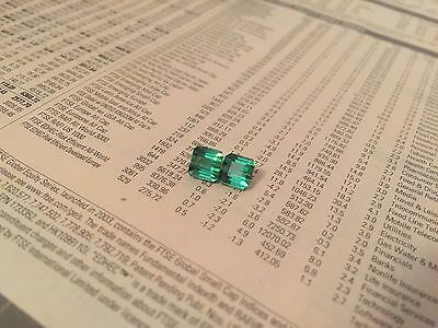 Pair of FLAWLESS Madagascan Tourmaline Paraiba Blue GREEN Mint Natural 3.50 Ct