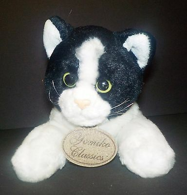 Cat Yomiko Classic Calico Plush stuffed animal white & black  11""