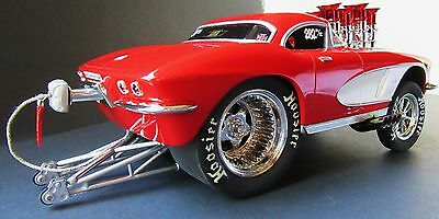 """Muscle Machines 1:18th 62' Chevy Corvette Gasser from, """"Casty's Speed Shop"""""""