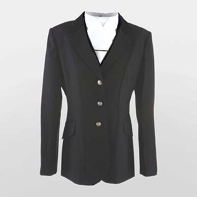 Dublin Hobart Adult Show Jacket With Silver Buttons - Ladies' - Navy Or Black