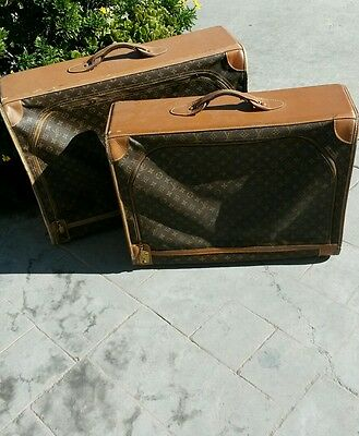 Authentic louis vuitton luggage 2 cases.
