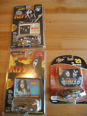 Lot of 3 Diecast Cars Featuring Kiss Gene Simmons Paul Stanley