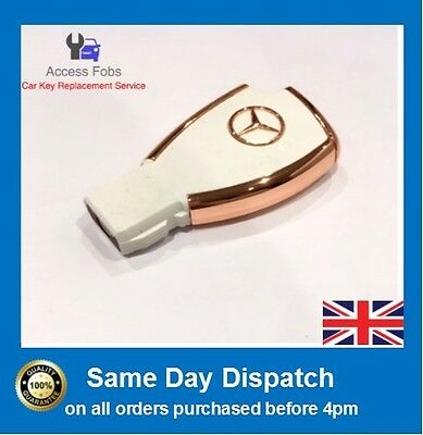 White Mercedes Benz 3 buttons remote modified flip key Shell Case 1997-2014