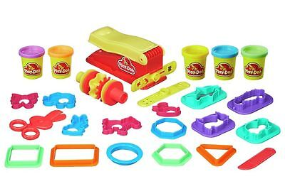 Play-Doh Fun Factory Pack 5 Dough Pots 15+ cutters moulds Molding Toy Set New