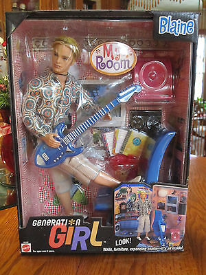 "GENERATION GIRL ~ Barbie & Ken's Friend ~ BLAINE Gordon ""Let's hang out!"" ~ NRFB"