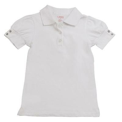 French Toast School Uniform Girls Puff Sleeve Double Button Polo