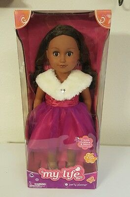 "My Life As 18"" Party Planner Doll, African American Hispanic Ethnic, Brand New"