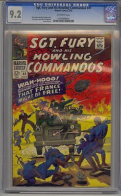 Sgt. Fury And His Howling Commandos #40 Cgc 9.2 Off-White To White Pages Marvel