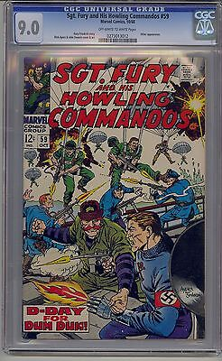 Sgt. Fury And His Howling Commandos #59 Cgc 9.0 White Pages Marvel