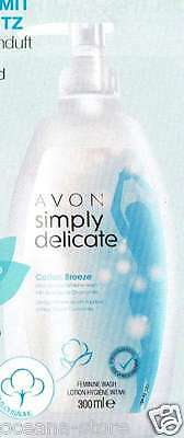 AVON Simply Delicate Cotton Breeze PH-neutrale Intim Waschlotion Aloe & Kamille
