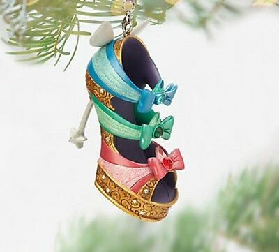 Disney 3 Good Fairies Shoe Ornament Tree Decoration, From Sleeping Beauty, Bnwt