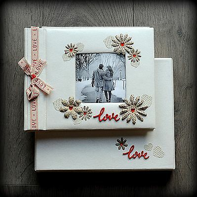 Luxury Personalised Romantic/ Wedding Photo Album/ Gift Hand Made Boxed