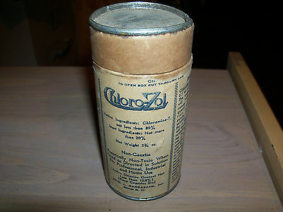 vintage Chloro-Zol Powder cardboard canister/container