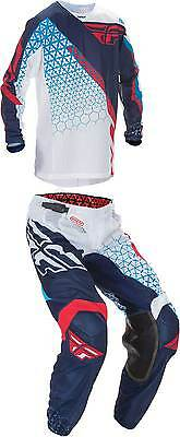 2017 Fly Racing Youth Kinetic Mesh Trifecta Jersey Pant Combo - MX ATV Motocross