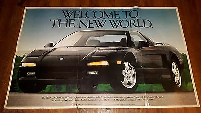 1990 ACURA NSX Newspaper advertisement POSTER Sales Brochure RARE CANADIAN ISSUE