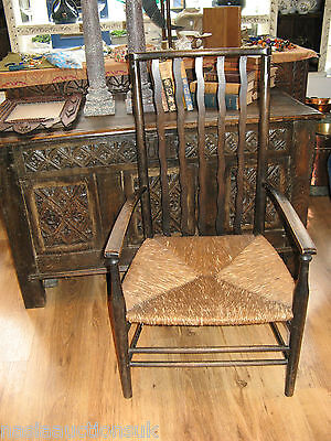 Beautiful Antique Arts & Crafts Mackintosh Style Nursing Chair