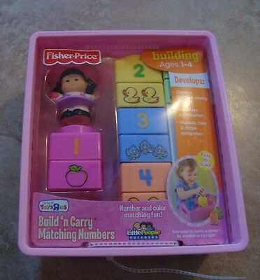fisher price build 'n carry mathing numbers