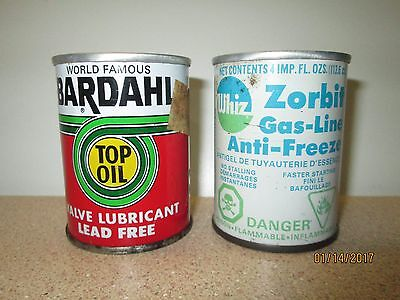 BARDAHL Top Oil & WHIZ Gas Line oil cans