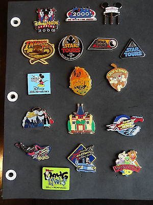 17 Disney Pins, 3 STAR TOURS, MGM CHINESE THEATER, INDIANA JONES WHIP &HAT+ MORE