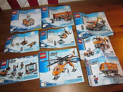 Lego City 60034 60035 60036 Artic Lot Instruction Book Booklet Manual only