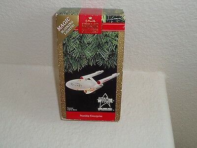 1991 Hallmark Keepsake Ornament Starship Enterprise Star Trek 25Th Anniversary!