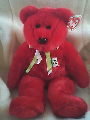 "TY Beanie Buddies Retired & Introduced 2000 Large 14"" Tall OSITO Mexico Bear NEW"