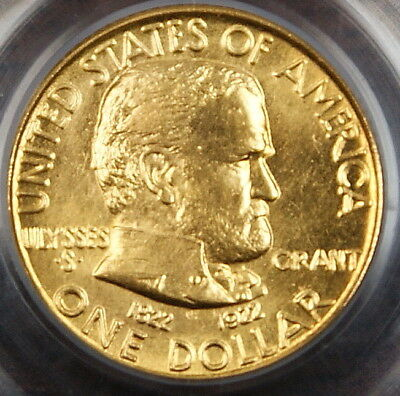 1922 Grant Gold $1 No Star, PCGS MS-64 (Better Coin)