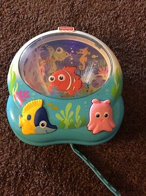 Fisher-Price Disney Finding Nemo Light & Music Crib Soother Baby Toy White Noise