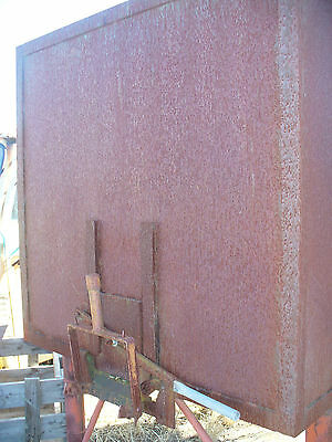 Large grain bin with two hoppers one front and back and  great for grain storage