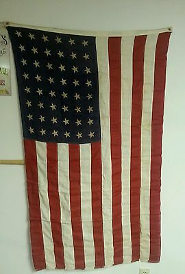 VINTAGE 48 STAR  3' x  5' American Flag. Valley Forge  Flag Company