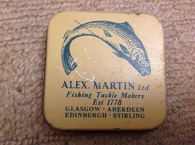 Vintage Fishing Tackle - Alex Martin Ltd - Collectable Tin