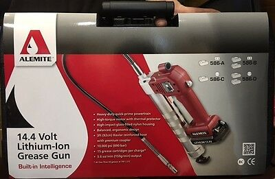 lot of 2-Alemite Cordless Grease Guns 14.4  Lithium-ion Battery Powered