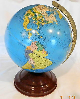 1950's DESKTOP REPLOGLE 12 INCH WORLD GLOBE_ORIGINAL BOX