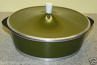 Vintage Galloping Gourmet Green Enamel Pot/cover *graham Kerr*