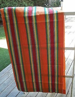 Vintage Cotton Canvas  Deck Chair Awning Fabric  Material Stripe Curtain