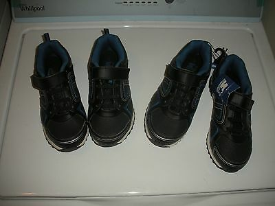 NEW Starter Boy's Black Sneakers Shoes kids Size 3 TWO Pairs