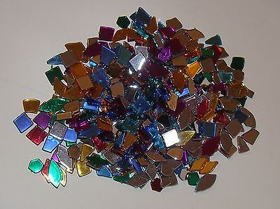CRAFTWORK MOSAIC PIECES x APPROX 360 - VIBRANT COLOURS - SILVER BACK