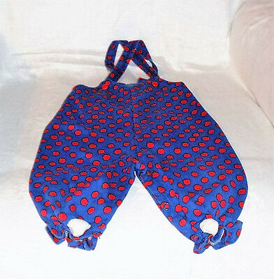 *1963* STONES WEAR 12 Months Vintage Baby Infant Corduroy Bibs Red White & Blue