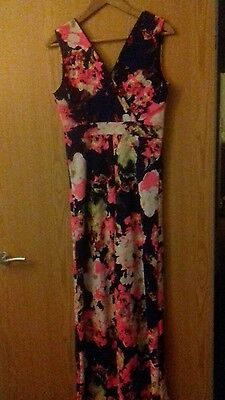 Womens Stunning Floral Jumpsuit Playsuit Size 12-14 Prague Holiday Party Xmas
