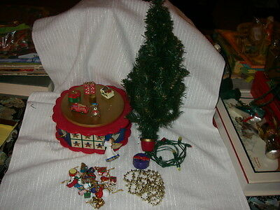 Avon Christmas is Coming Advent Tree with ornaments and lights