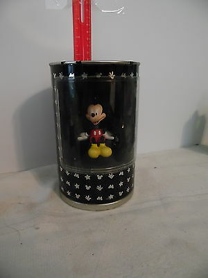 Disney 2001 Simply Mickey Figurine W/Original Black and Silver Can