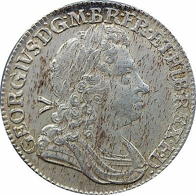 1723 George I Shilling SSC in angles S-3647 C over SS variety (SE quadrant)