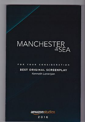 Manchester By The Sea SCREENPLAY bound ltd ed for Oscar voters Kenneth Lonergan