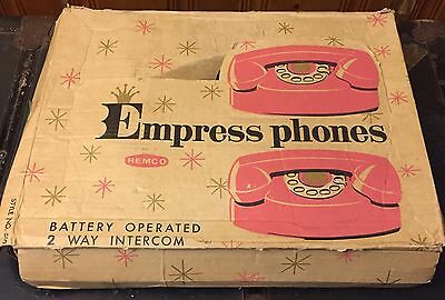 Vintage Remco Empress Phones Toy Intercom Pink in Original Box Battery Operated