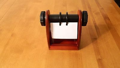Rolodex Wooden Rotary Desktop Contact Organizing System, With  Blanks Cards