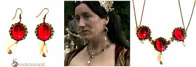Catherine of Aragon Tudor Red Necklace Inspired Copper & Ruby