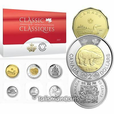 Canada 2017 Classic Canadian Designs 6 Coin Proof Like Uncirculated Mint Set