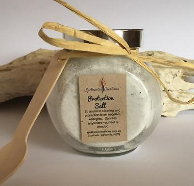 Protection Salt 150g Jar - Space clearing, positive energies, wicca, magic
