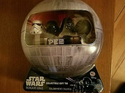 Star Wars Rogue One PEZ COLLECTIBLE GIFT TIN with Death Trooper Pez Christmas